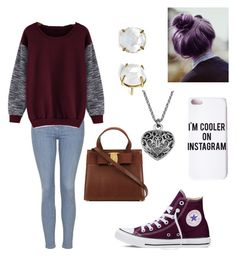"""""""Untitled #5"""" by boston-c ❤ liked on Polyvore featuring moda, Topshop, Missguided, Converse, women's clothing, women, female, woman, misses y juniors"""