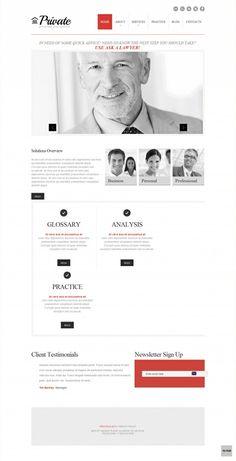 Private – Responsive Law Firm White & Grey WordPress Theme