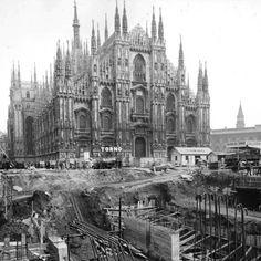 Metro Milano - Primi cantieri
