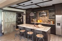 Beguiling Barn Doors Home Interior Design Traditional Home Bar Indianapolis