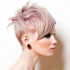 funky hairstyle for short thin hair