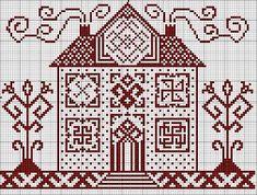 схема1 Cross Stitch House, Cross Stitch Samplers, Cross Stitch Charts, Cross Stitch Designs, Cross Stitching, Cross Stitch Patterns, Blackwork Embroidery, Cross Stitch Embroidery, Embroidery Patterns