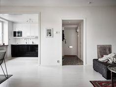 Livlig tvåa med österutsikt och öppet vardagsrumskök ‹ Dansk inredning och design
