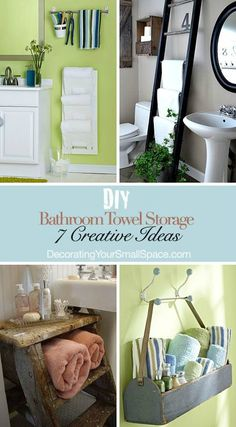 DIY Bathroom Towel Storage Ideas
