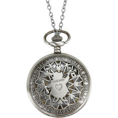 Disney Alice In Wonderland No Time To Say Hello Pocket Watch Necklace ($12) ❤ liked on Polyvore featuring jewelry, necklaces, disney, multi, pocket watch, disney necklace, disney jewelry and pocket watches