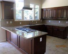 Interior design on pinterest dog wash mason jar kitchen - Kitchen peninsula with stove ...