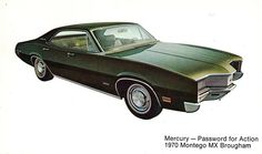 1970 Mercury Montego MX Brougham 4 door hardtop