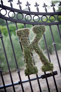 Hm, I bet Mom or Auntie M could totally make this for me. :) Miss Mascara's DIY Project: Mossy Initials : wedding ceremony decor diy door decor Aprils Moss Covered Letters, Moss Letters, Monogram Letters, Wedding Book, Diy Wedding, Rustic Wedding, Wedding Vintage, Wedding Ideas, Wedding Reception Flowers