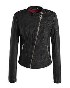 Biker leather #jacket by #Esprit when im feeling the rock n roll spirit