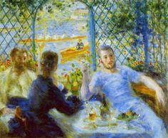 ピエール=オーギュスト・ルノワール-河岸の食事(舟漕ぎたちの昼食、舟遊びをする人たちの昼食)-