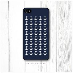 iPhone 4 and 4S case Anchor Pattern. $15.00, via Etsy.