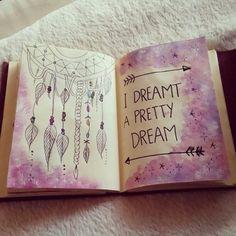 Image via We Heart It https://weheartit.com/entry/153453559 #art #diy #drawing #drawings #Dream #dreamcatcher #inspiration #inspirational #love #nightmare #painting #wreckthisjournal #selfmade #journalbook