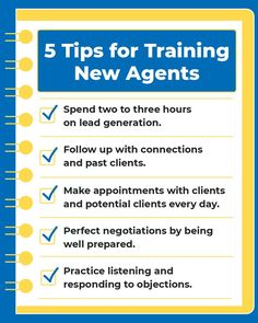 Here are five tips for brokers to support new agents to help them thrive. National Association, Lead Generation, Appointments, Train, Marketing, Tips, Magazine, Magazines, Strollers