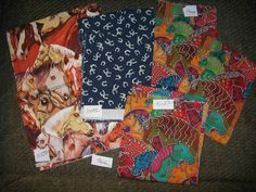 Sale*** 3 Horse themed fabric bundle 50% off **** COUPON CODE: 50OFFCLEARANCE by FabricNstuff2 on Etsy