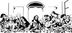 The Last Supper - Vinyl Wall Decal ******************************************** Wall decal of the famous painting of The Last Supper created from Jesus Drawings, Art Drawings, Vinyl Wall Art, Wood Wall Art, Wood Burning Stencils, Paper Cutting Patterns, Jesus Painting, Jesus Art, Desenho Tattoo
