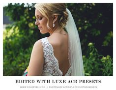 ACR Presets for Photoshop - $67  #overlays #photoshop #photography  Pin now, read later - Best Photoshop ACR Presets for Photographers Photoshop Actions For Photographers, Photoshop Photography, Your Image, Overlays, Photo Editing, Portrait, Film, Beautiful, Dresses