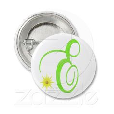 Monogram E Button by Gina Lee Manley ©gleem