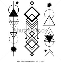 Geometric Tattoo - Abstract mystic sign with geometric shapes, triangles, arrows, circles, dots and - Ägypten - Pyramiden - Geometric Arrow, Geometric Symbols, Geometric Tattoo Design, Geometric Mandala, Geometric Circle, Geometric Shapes, Geometric Tattoos, Geometric Designs, Arrow Tattoos