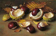 Jan Voerman, Jr: Chestnuts (1957); medium possibly oils.