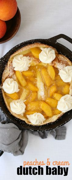Peaches & Cream Dutch Baby