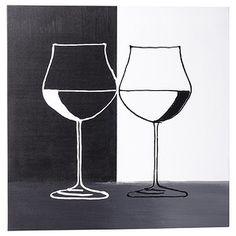 Hand Painted Wine Glass Wall Art