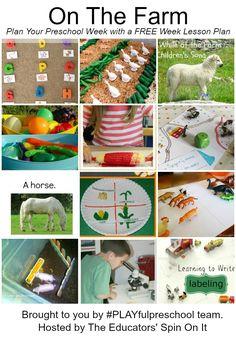 #PlayfulPreschool Farm Theme Week. Tons of farm theme lesson plans for preschoolers!