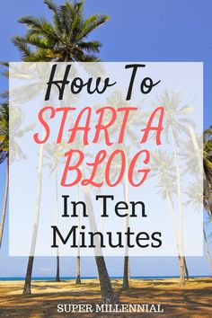 Start a Blog. Setting up a blog doesn't have to be hard. Click here to start creating a blog in less than 10 minutes!