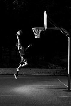 Edgy, basketball senior portraits