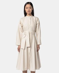 Kahlo Shirt Dress in Taupe by SMOCK Woman- Mohawk General Store