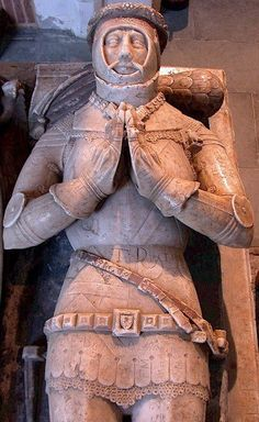 A tomb effigy of a medieval knight, similar to the one described in the church in the opening chapters of The Sphere of Septimus http://simon-rose.com/books/the-sphere-of-septimus/
