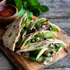 Sautéed Mushroom and Avocado Quesadillas