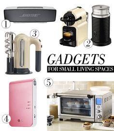 5 SMALL & PRACTICAL GADGETS for small living spaces - When you're living in a small apartment, it doesn't take much to make it look cluttered and messy. Here are five practical gadgets that don't take up too much space...