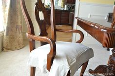 arm_chair_drop_cloth_chair_skirt atthepicketfence.com