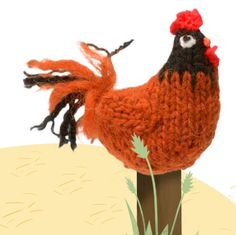 "Rooster Free Knitting Pattern (Extract from ""Farmyard Knits"" by Fiona Goble)"
