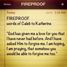 fireproof movie reflection