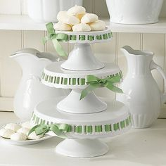 Ribbon cake plates from Layla Grace- have always loved these. One day, maybe I can justify spending $168 on them.