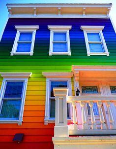 Rainbow house in San Francisco