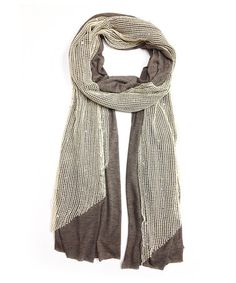 Another great find on #zulily! Brown & Beige Sequin Scarf by East Cloud #zulilyfinds