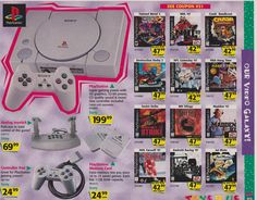Who remembers circling what they wanted in the newspaper ads ? Video Games Consoles Console Mario Zelda Nintendo Switch Playstation Xbox One Retro Nostalgia Xbox Atari NES SNES Sega Genesis Master System Game Gear Gameboy GameCube Wii Wii U Vintage Videos, Vintage Video Games, Classic Video Games, Retro Videos, Retro Video Games, Retro Games, Vintage Games, Toys R Us Christmas, Toys R Us Ad