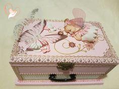 Boîte à musique bébé fille rose et blanche fée clochette- au cœur des arts - Enfants - Au coeur des Arts