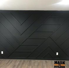Black Accent Walls, Accent Walls In Living Room, Accent Wall Bedroom, Black Accents, Master Bedroom, Bachelor Pad Decor, Accent Wall Designs, Extra Rooms, Border Design