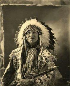 Hawk That Hunts Walking. Sicangu 1900
