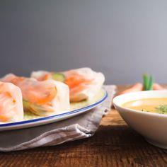 Vegane Summer Rolls mit Erdnuss-Dip gesund lecker einfach glutenfrei