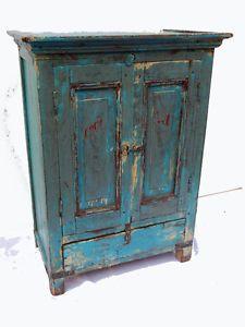 petit buffet ancien teck patine originale 56x36x75cm meuble indien inde ebay