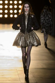 A look from the Saint Laurent spring 2015 collection. Photo: Imaxtree
