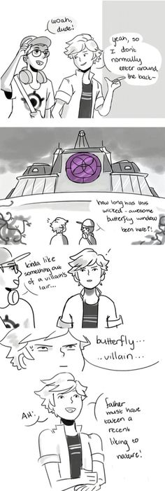Shsjsjsjs this is why Adrien doesnt understands who is the ladybug