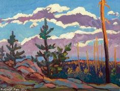 JOHNSTON Frank (Franz) Hans - AGAWA CANYON TERRITORY - ALGOMA Emily Carr, Canadian Painters, Canadian Artists, North Country, Country Art, Frank Johnson, Group Of Seven Paintings, Tom Thomson Paintings, Landscape Paintings
