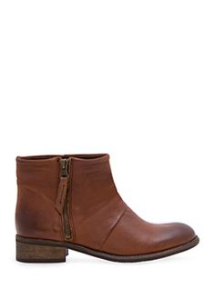 MANGO - Leather biker ankle boots
