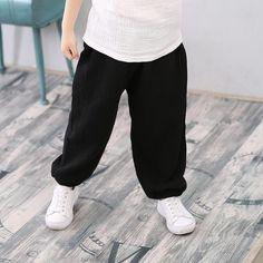 Kid Tryna Hike Boys Girls Sweatpants Sport Pants Back Pocket Black