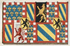 e-codices – Virtual Manuscript Library of Switzerland Philippe Le Bon, Nautical Flags, Burgundy, Images, Banner, Kids Rugs, Gauche, Coins, House